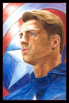 Captain America, prints available: 4x6, 8x12, 11x17