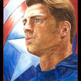 Captain America, prints available: 4x6, 8x12, 11x17