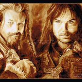 Fili and Kili, prints available: 4x6, 8x12, 11x17