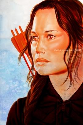 Katniss, prints available: 4x6, 8x12