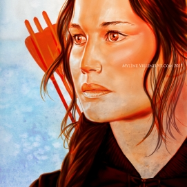 Katniss, prints available: 4x6, 8x12