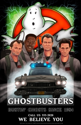 Ghostbusters, prints available: 8x12, 11x17