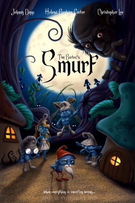 Smurfs, prints available:11 x 17